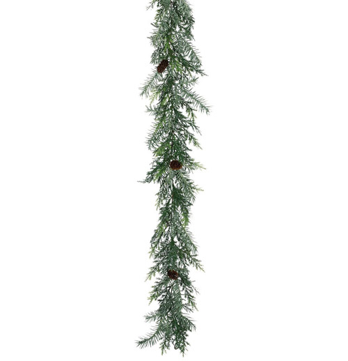 Garland Prickly 6' - Themed Rentals - arborvitae looking garland