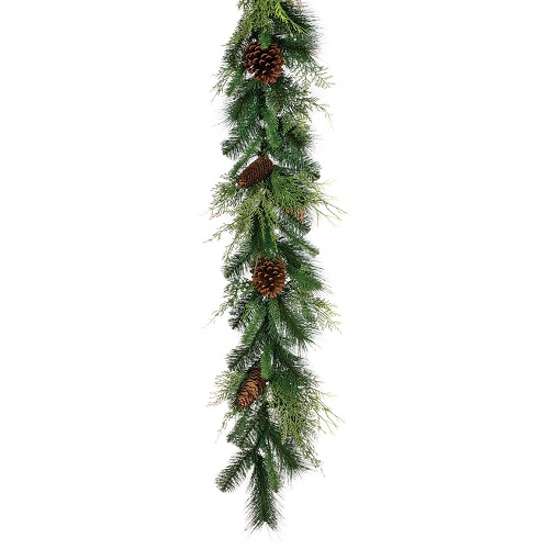 Garland Mixed With Pinecones 6' - Themed Rentals - artificial Christmas garland rental MN